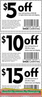 Free Printable Shoe Carnival Coupons