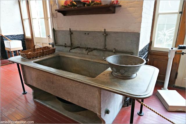 Fregadero en la Cocina de Marble House, Newport