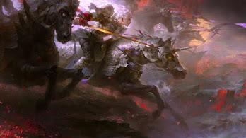 Fantasy, Warrior, Horse, 4K, #4.3074