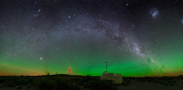 At the Pierre Auger Observatory in Argentina, cosmic rays have been detected from far off galaxies. Image Credit: Pierre Auger Observatory