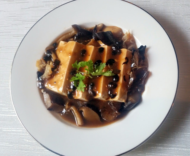 Steamed Tofu Black Bean and Chilli