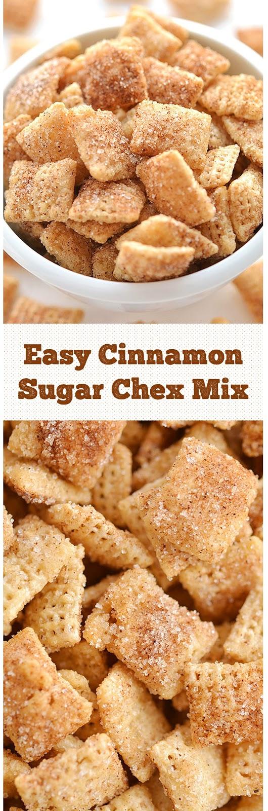 Easy Cinnamon Sugar Chex Mix