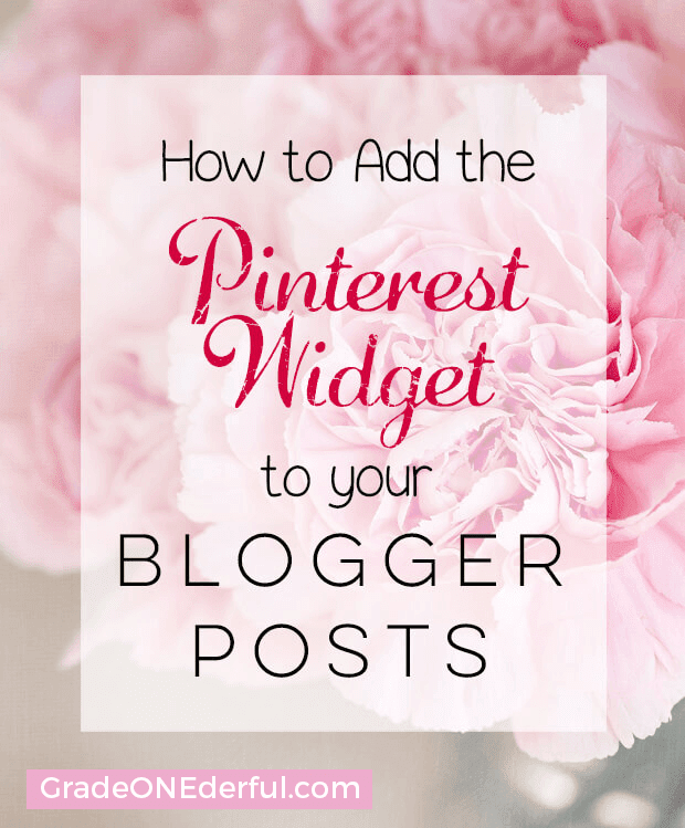 Pinterest Widget Blogger Tutorial: In this tutorial you'll find out how to add the pinterest widget to your posts and sidebar. This is a great way to increase your pinterest followers!