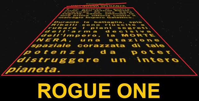 ROGUE ONE crawl - testo iniziale