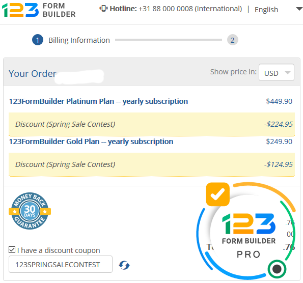 123FormBuilder Coupon Best Discount