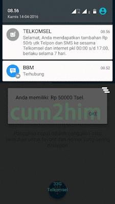 Cara Dapat Pulsa Gratis 50 Ribu Dari Aplikasi My Telkomsel
