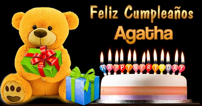 Feliz Cumpleaños Agatha