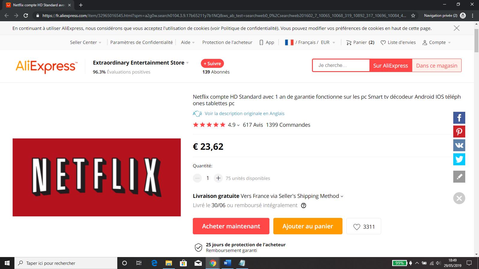Bon Plan: Promo 1 an Netflix à 23 € Sur Aliexpress