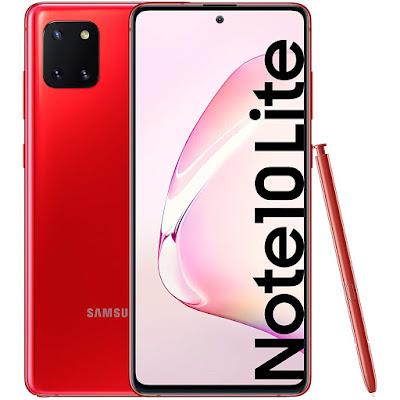 Samsung Galaxy Note 10 Lite rojo