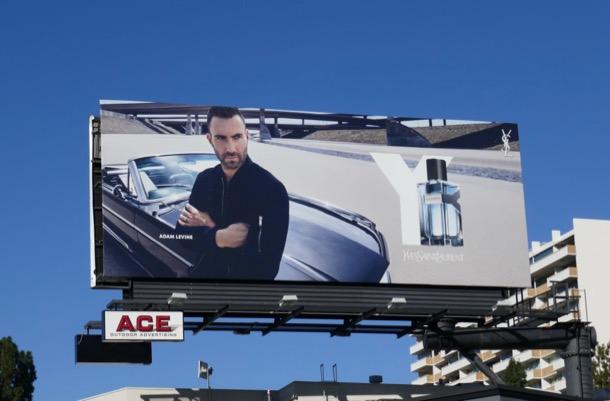 Adam Levine Yves Saint Laurent Y fragrance billboard