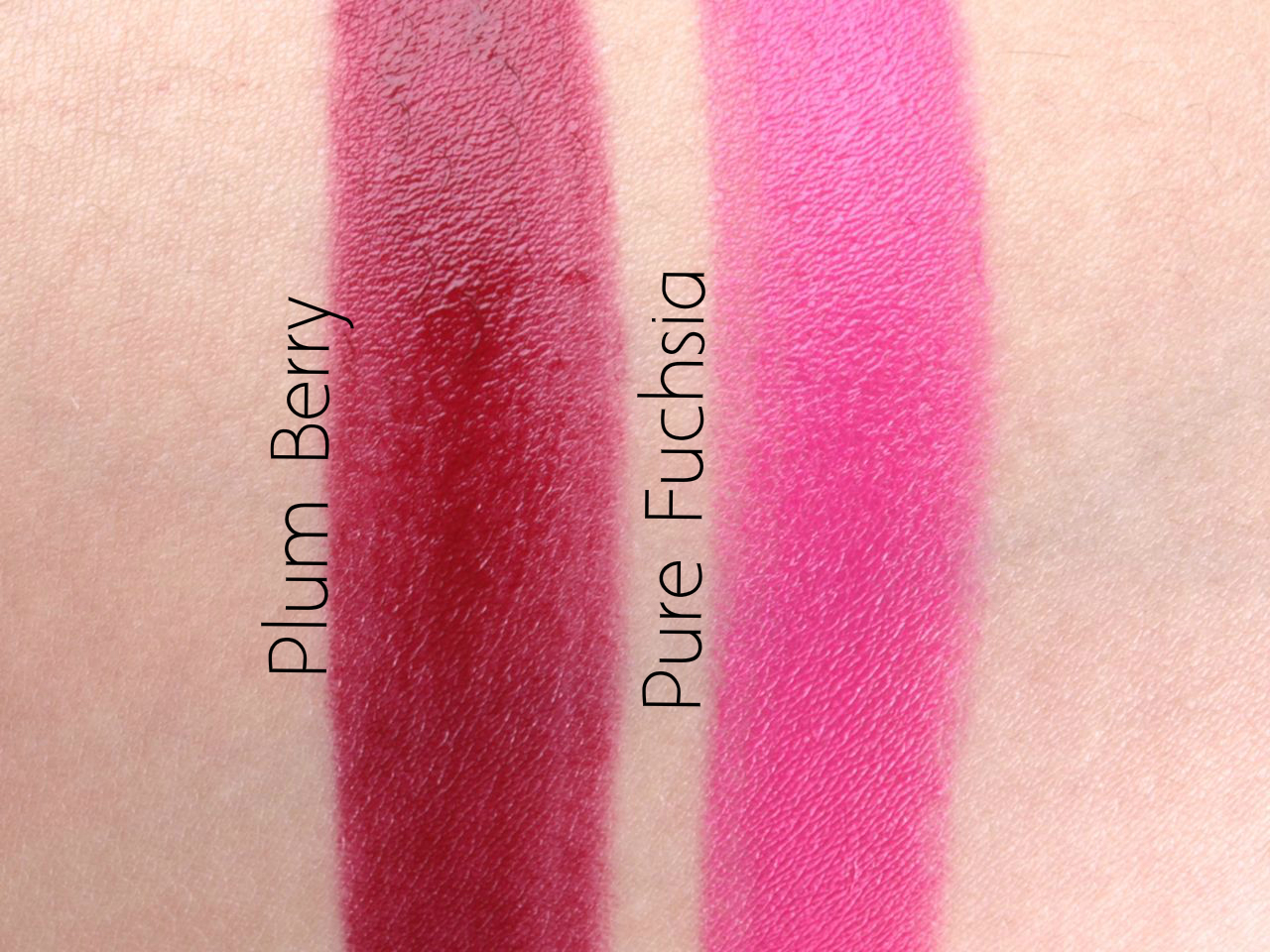 "Pixi Mattelustre Lipsticks in ""Plum Berry"" & ""Pure Fuchsia"": Review and Swatches"
