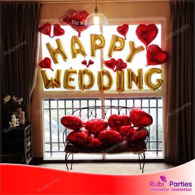 Set bóng trang trí phòng cưới HPWD05