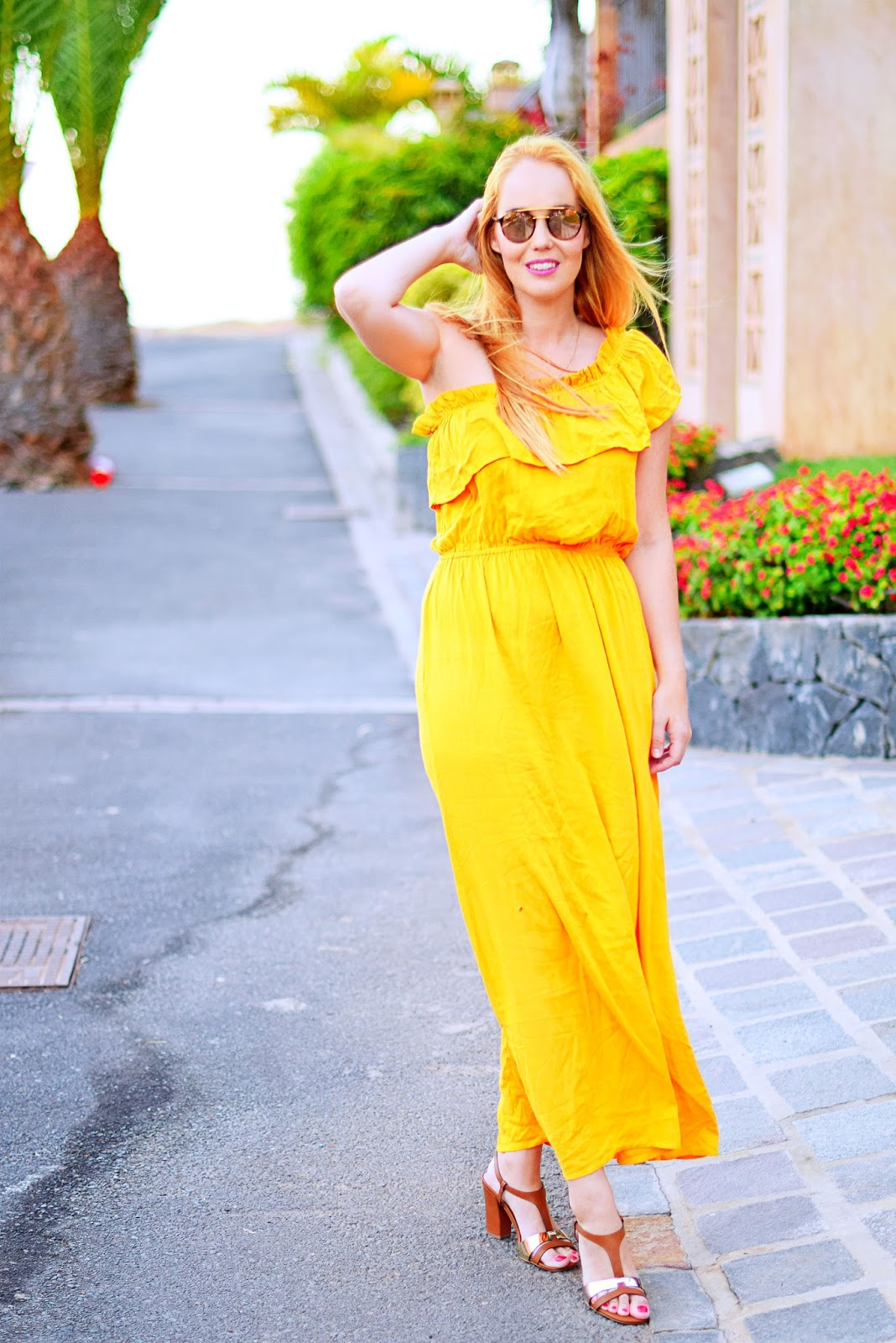 vestido largo, primark, rayban , opticalh, carolina boix, look de verano