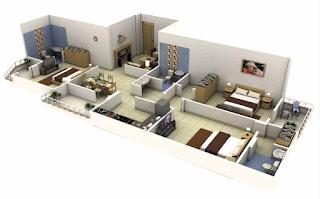 desain rumah minimalis modern ukuran 6x15