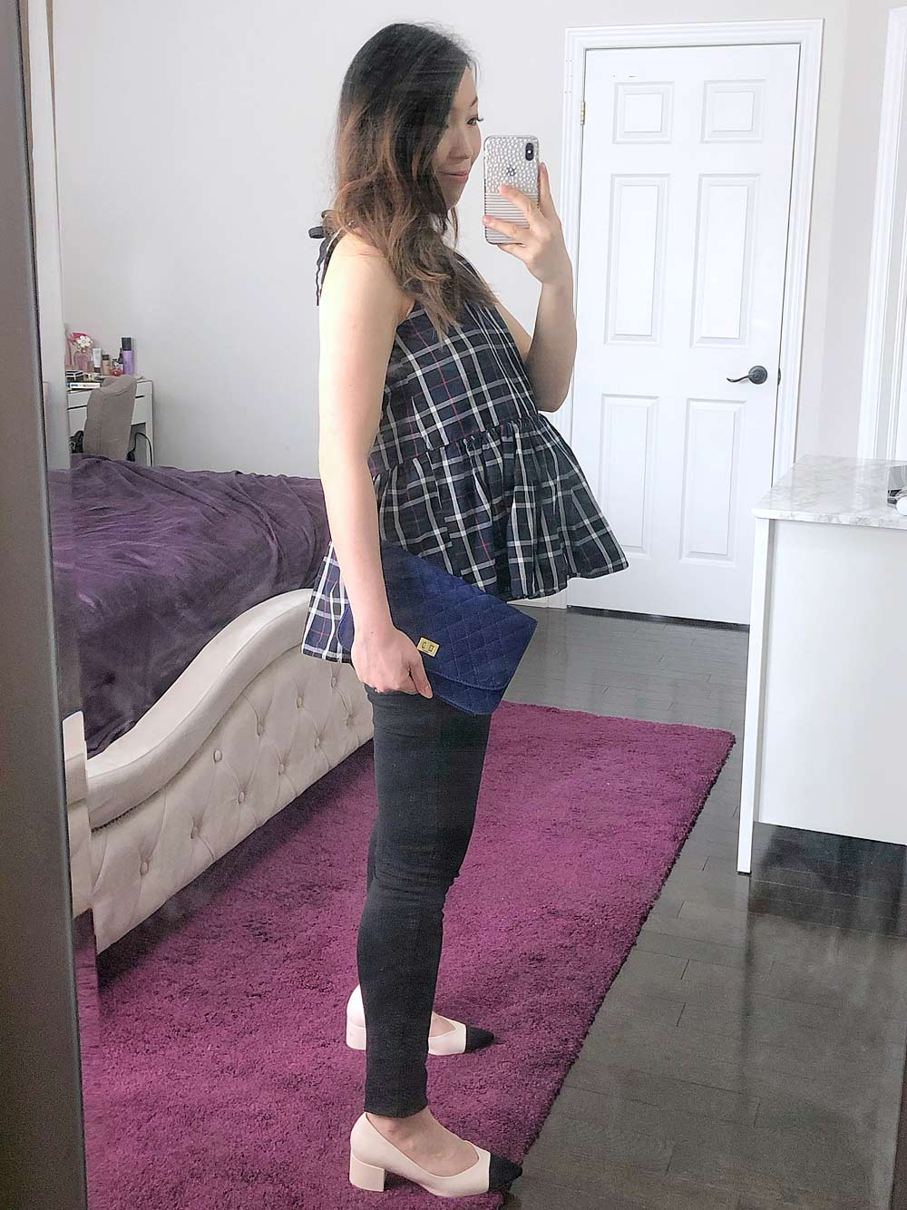How to Look Stylish During Pregnancy - peplum top
