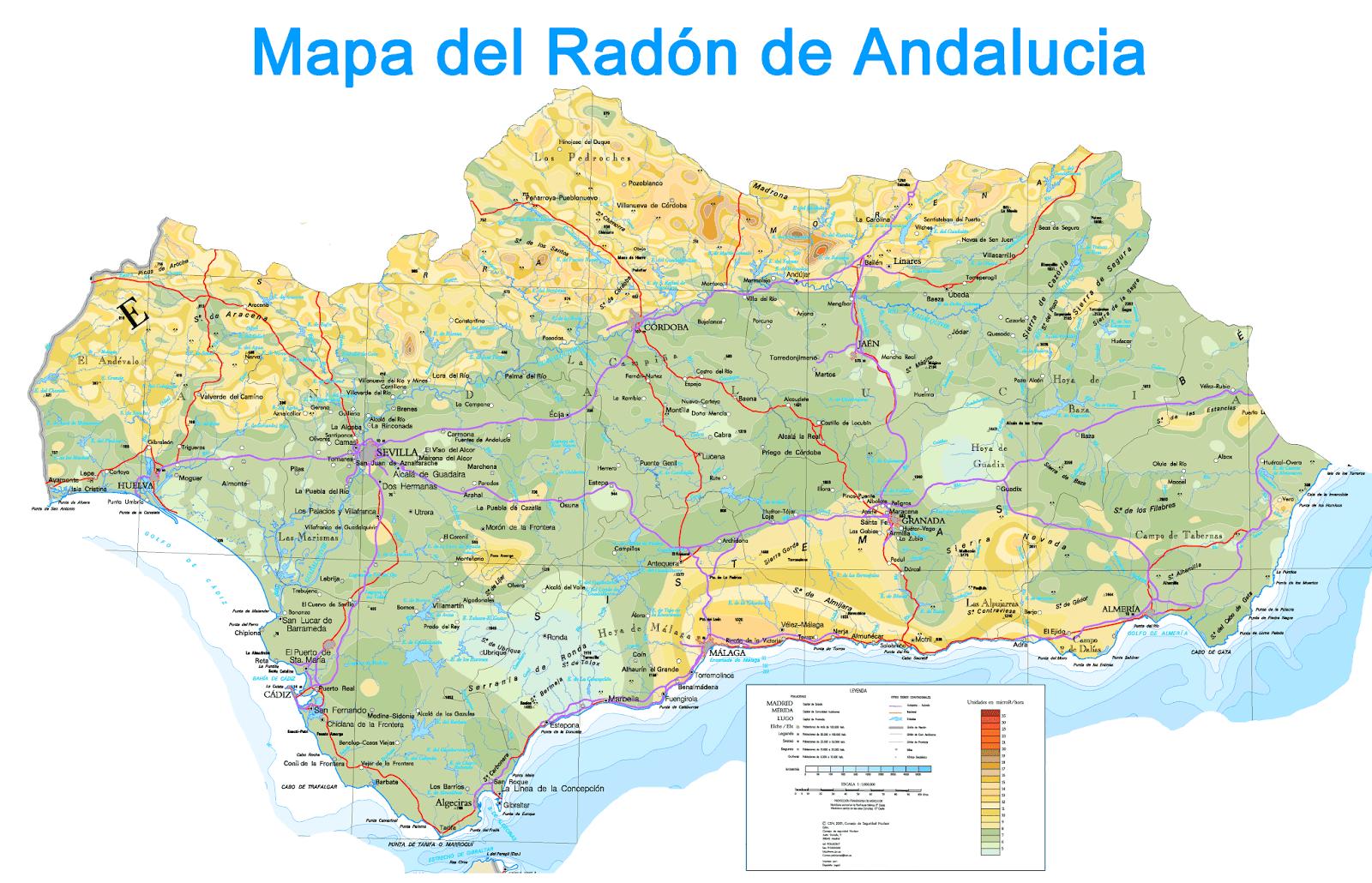 Mapa Del Radon En Espana.Departamento De Edificacion Radon Sin Control En Los Edificios Espanoles Parte Ii