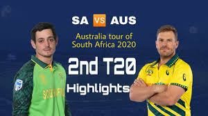Aus vs SA 2nd T20 2020 highlights