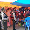 Patroli Ke Pasar Sentral, Personil Sabhara Polres Takalar dengan menerapkan Prokes Covid-19
