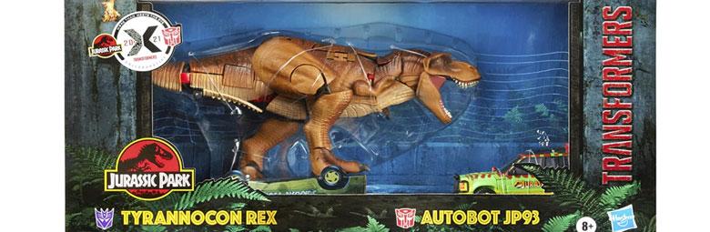 Transformers Generations --Transformers Collaborative: Jurassic Park Mash-Up, Tyrannocon Rex & Autobot JP93