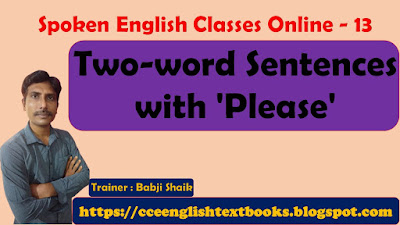 Two-word Sentences with 'Please'