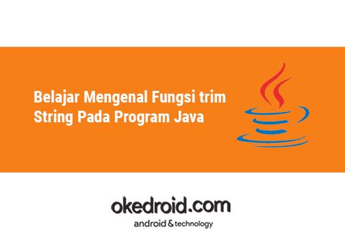 Belajar Mengenal Fungsi Trim String Pada Kegiatan Java   bukakoplak