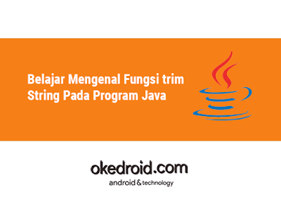 Contoh Program Method Fungsi trim() kelas class String pada java