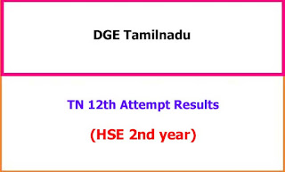 TN 12th Special Supplementary Exam Results 2021