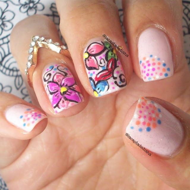 flowers-nailart