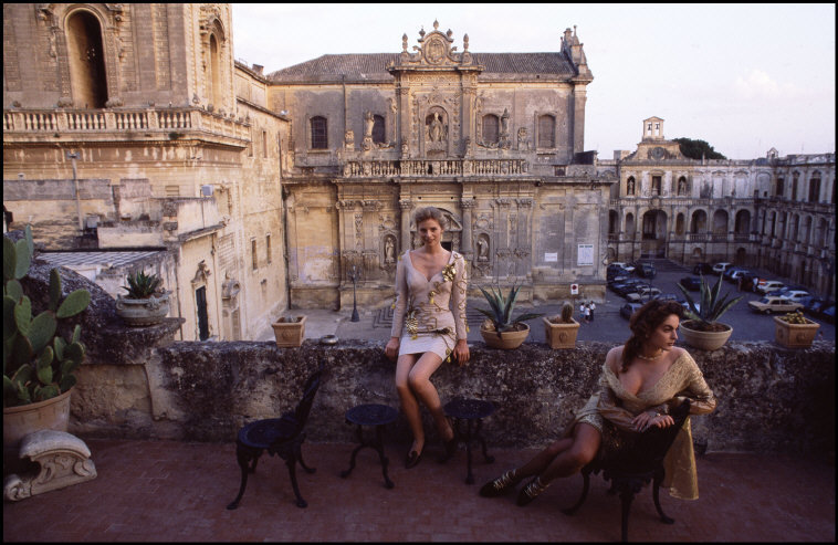Ferdinando Scianna, Fashion and Baroque. Lecce, Italy, 1988. | Allegory of Vanity
