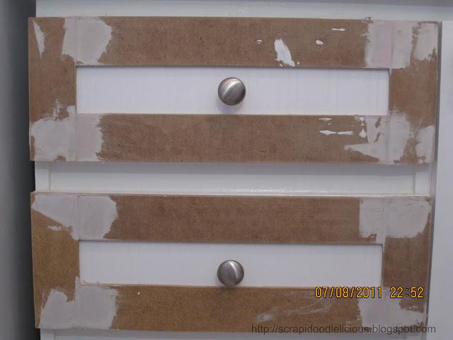 Scrapidoodlelicious Beadboard Wallpaper In Kitchen Cabinets