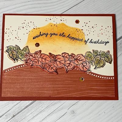 Fall card with leaves using Stampin' Up! Quite Curvy Stamp Set