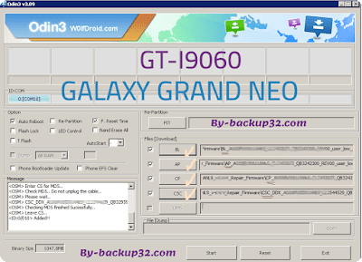 سوفت وير هاتف GALAXY GRAND NEO موديل GT-I9060 روم الاصلاح 4 ملفات تحميل مباشر
