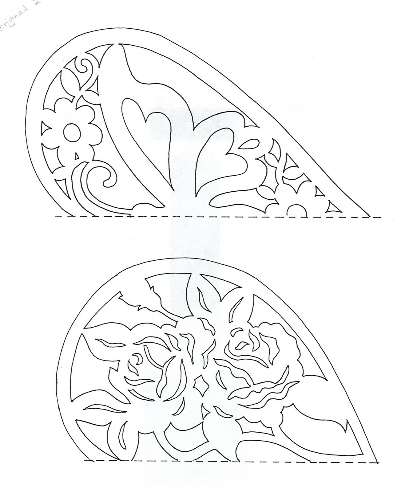 the top one has the butterfly, the bottom one a pretty roses pattern