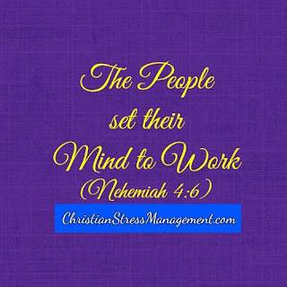 The people set their mind to work Nehemiah 4:6