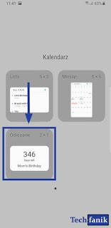 Samsung Widgety Kalendarza