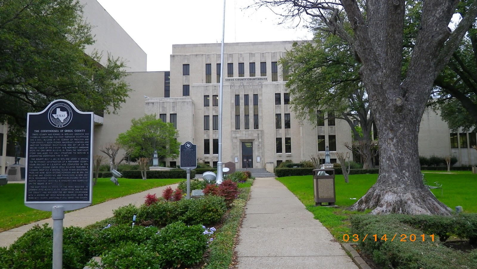 Texas Courthouse Tour: March 14 ESBCCT: Longview, Marshall