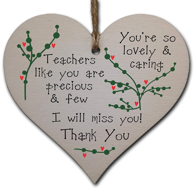Thank you teacher heart decoration