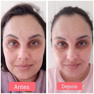 resenha Máscara Facial Uniformizadora Renew Avon dicas da tia antes e depois