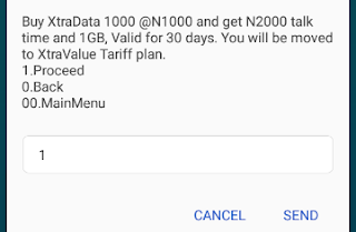 mtn data plan code for 1000 naira