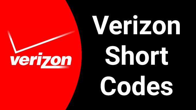 Verizon Short Codes 2021