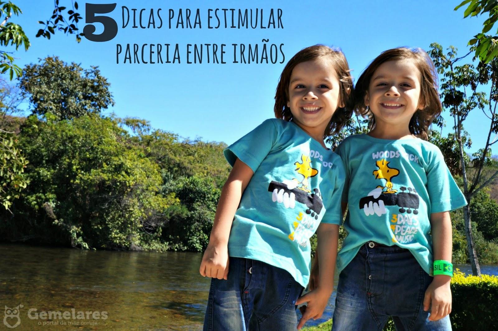5 Dicas para estimular parceria entre irmãos