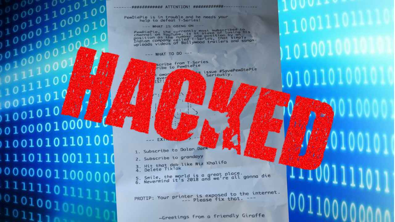 Unsecure work printers got HACKED!