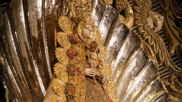 La Concha Peregrina se traslada a Los Dolores para celebrar los cultos preparatorios de Pentecostés 2021