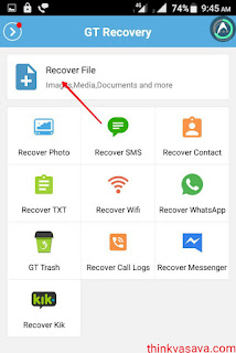 Recover file button click SEO friendly