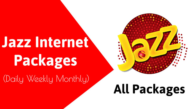 Jazz Daily Weekly Monthly Internet Packages 2020