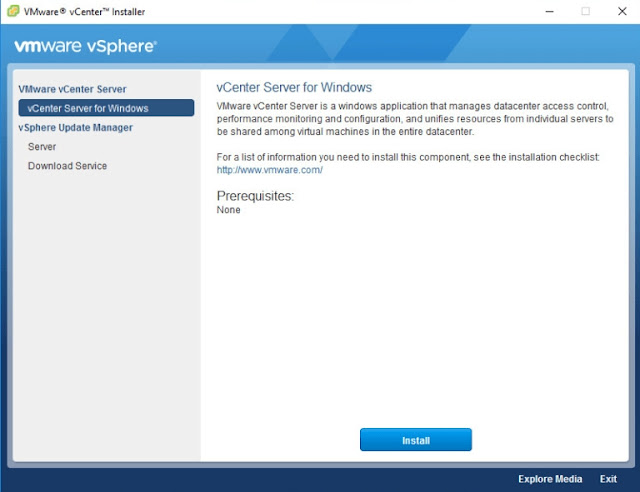 Instalação VMware vCenter 6.7.0 para Windows