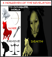 a graphic (c) Erika Grey of the four horsemen of the Apocalypse diagram and infographic