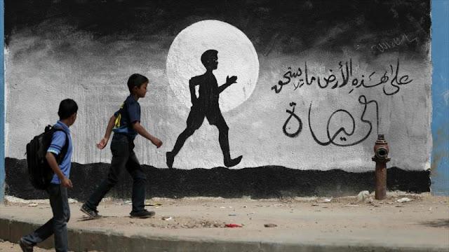 Israel bloquea entrega de libros a estudiantes palestinos en Gaza