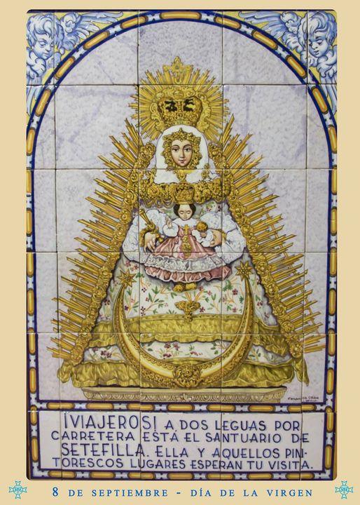 """Cartel anunciador  """"El Día de la Virgen"""" Nuestra Señora de Setefilla 2021"""