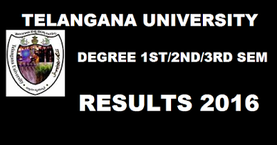 Telangana University Degree 2016 Results BA BSC Bcom Results 1st 2nd 3rd Sem Results declared on www.telanganauniversity.ac.in ( Under Graduate)TU Degree BA/ B.Com/ B.Sc/ BBM/ BCA Semester Results 2016  BSc Computers BA Bcom Computers General Results 2016 Ist Year IInd Year IIIrd Year Semister wise Results will be announced at official website TU Degree Results 2016/OU UG Results 2016/ OU BA, BCom, BSc Results 2016, Osmania University Telangana University B.A., B.Com., and B.Sc. annual examinations 2015 results: B.A., B.Com., and B.Sc. annual examinations of Osmania University held during March/April 2016. large number of candidates had taken the examinations for three years in the three courses. The students of Osmania University who appeared for various degree courses this year can expect their results today. (may be release on 30.05.2016) Osmania University OU Degree Results 2016 BA Bcom BSC Osmania University OU Degree Results 2016 BA Bcom BSC BA, B.Com, B.Sc, BBM, BCA courses appeared for the semester examinations. All the candidates who had written the exam are eagerly waiting for the results. Now, the wait is over. Telangana University declared BA, B.Com, B.Sc, BBM, BCA Semester degree results. Candidates can check the results from the direct link provided below.